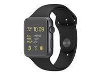 Apple Watch Sport 42mm Aluminiumgehäuse mit Sportarmband MJ3T2FD/A schwarz