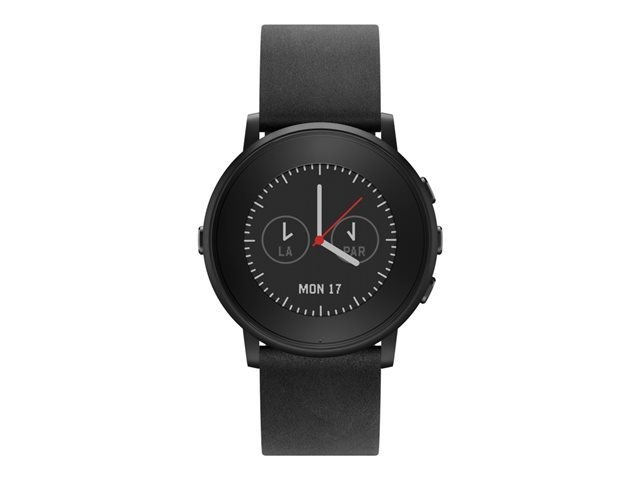 Pebble Time Round 20mm-Armband schwarz
