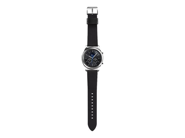 Samsung Gear S3 Classic Korpus: Silver, Echtleder-Armband: Black