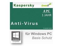 Kaspersky Anti-Virus 2017 (4 PCs, 1 Jahr) Vollversion