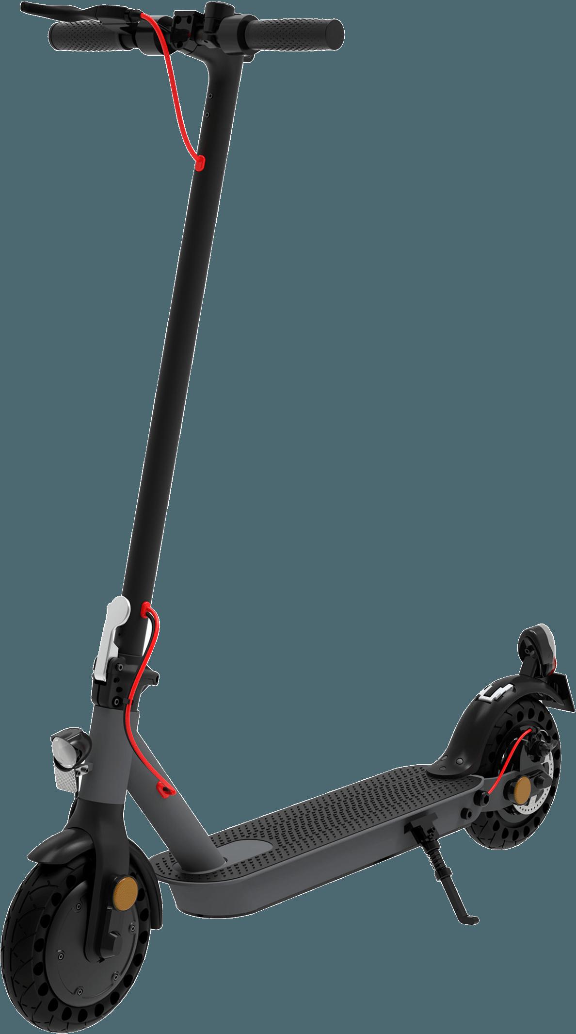 TES 200 E-SCOOTER E-Roller (8.5 Zoll, Schwarz/Gunmetal/Rot)