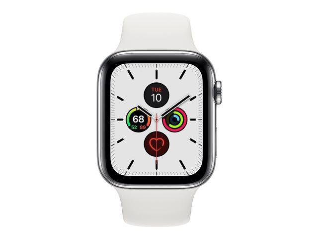 Apple Watch Series 5 GPS + Cellular 44mm Edelstahl-Gehäuse mit Sportarmband
